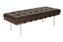 Sevilla Chocolate Leather 2 Seater Bench