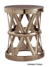 Costello Iron Accent Table - Polished Nickel