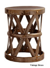 Costello Iron Accent Table - Vintage Brass