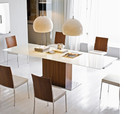 Calligaris Park Glass Extendable Dining Table