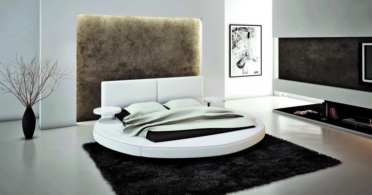 Palazzo Round Bed - White