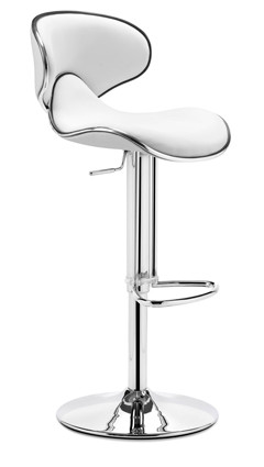 Fly Bar Stool in White - Made By Zuo Modern