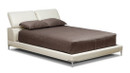Judy Leather Platform Bed - Queen Size