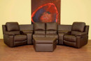 Brando Home Theater Seats Curved Row of 4