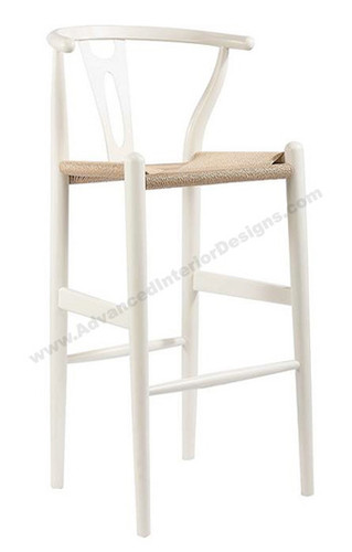 Wishbone Bar Stool White