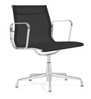 Aluminum Mesh Management Chair With No Wheels Black
