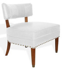 Sorbonne Leather Chair - Antique White