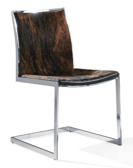 Peachy Cowhide Modern Dining Chair Bralicious Painted Fabric Chair Ideas Braliciousco
