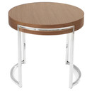 Ross Round Side Table Walnut
