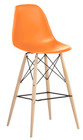 Molded Plastic Counter Chair with Dowel Legs
