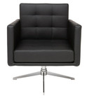 Nuevo Black Maxwell Lounge Chair