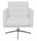 Maxwell White Lounge Chair by Nuevo - HGAF263