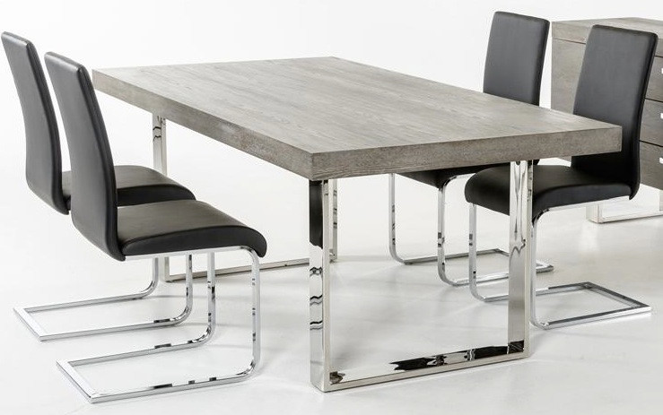 Gray Wood Dining Table Advancedinteriordesigns Com