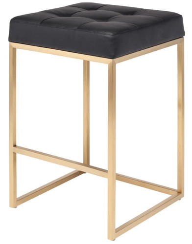 Chi Couner Stool In Gold Finish