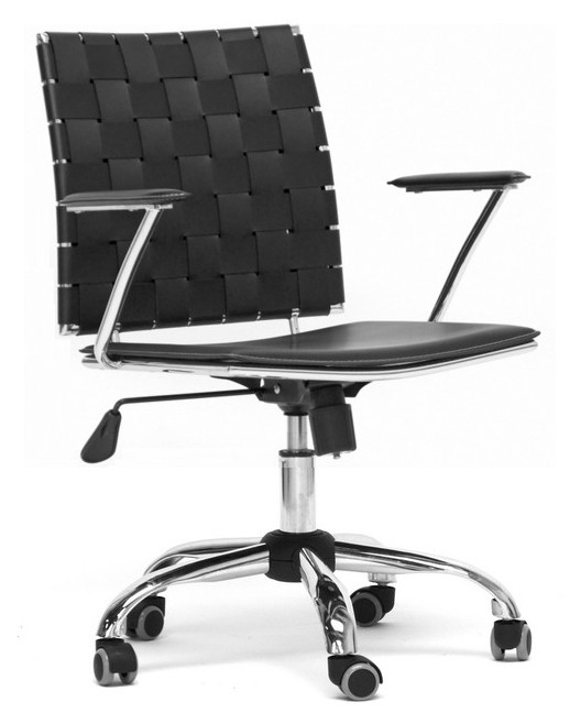 Cool Baxton Studio Vittoria Leather Modern Office Chair Gmtry Best Dining Table And Chair Ideas Images Gmtryco