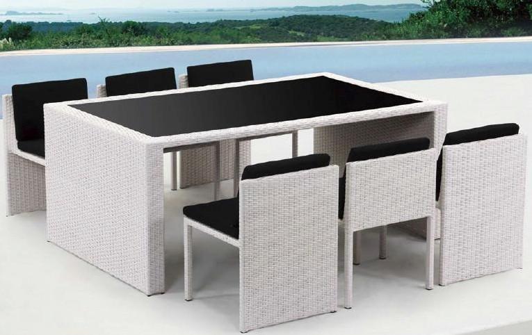 Bliss 7 piece outdoor dining set elegan and unique - Outdoor interiors 7 piece patio set ...