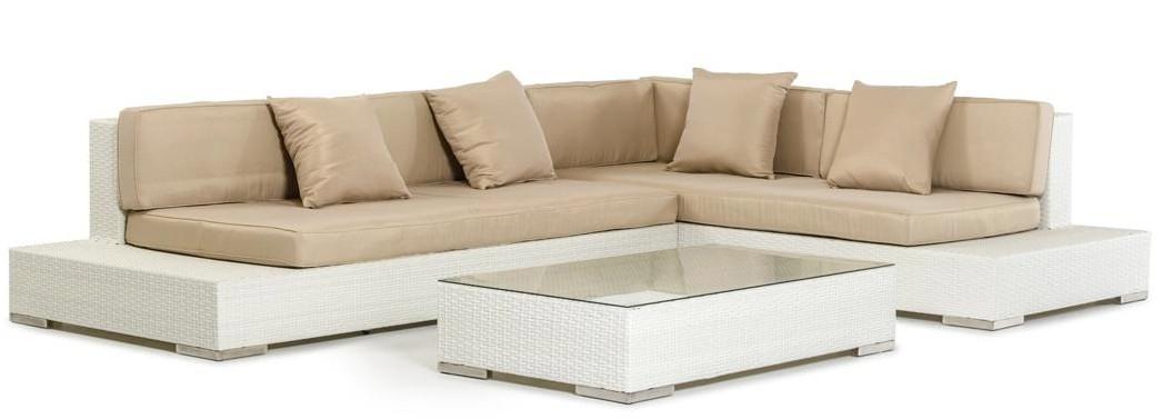 Corona Modern Patio Sectional Sofa Set