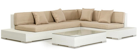Corona Modern Patio Sectional Sofa Set