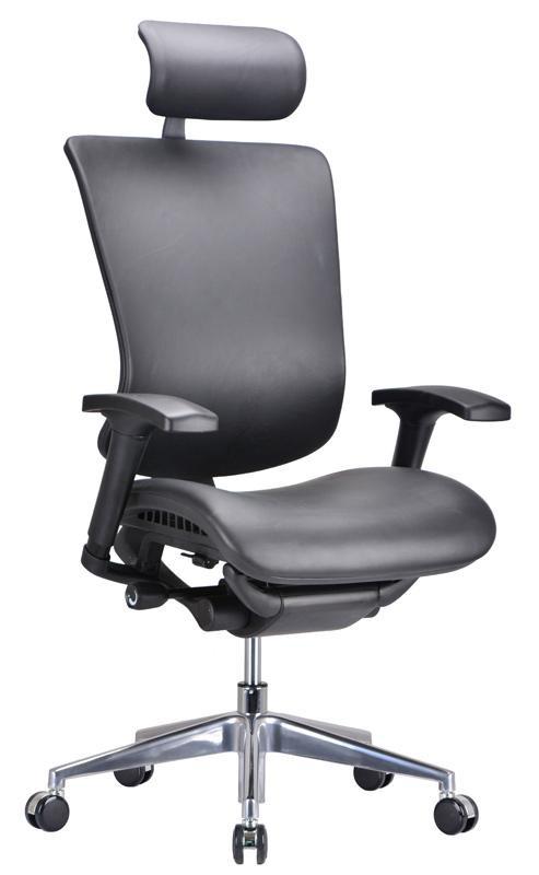 Modrest Watson Modern Black Leather Office Chair