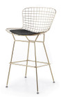 Bertoia Counter Stool In Gold Finish