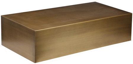 Cube Coffee Table, Brushed Brass
