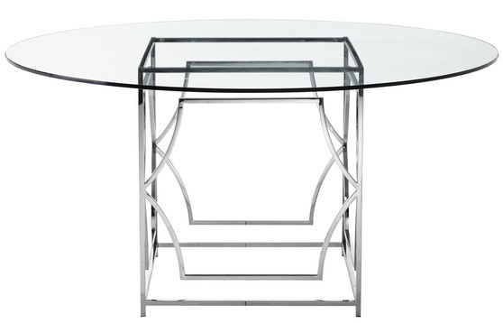 Awe Inspiring Julia Round Glass 60 Dining Table Gmtry Best Dining Table And Chair Ideas Images Gmtryco