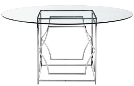 "Julia Round Glass 60"" Dining Table"
