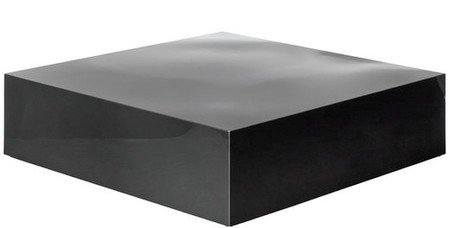 Nuevo Siren coffee Table Black Polished Stainless Steel