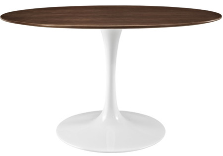 "Flower Table Walnut 60"" Oval"