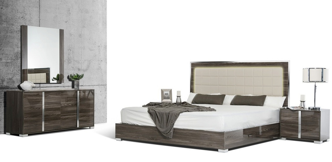 San Francisco 5pcs Modern Grey Bedroom Set
