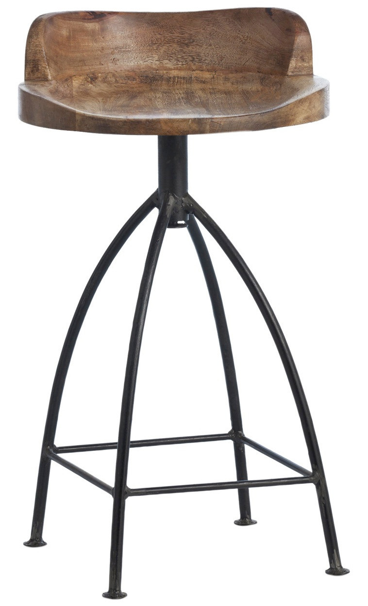 Henson Counter Stool By Arteriors Home With Swivel Wood