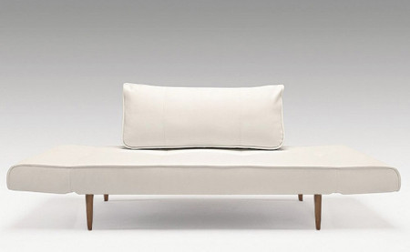 Zeal Deluxe Daybed White With dark Wooden Legs