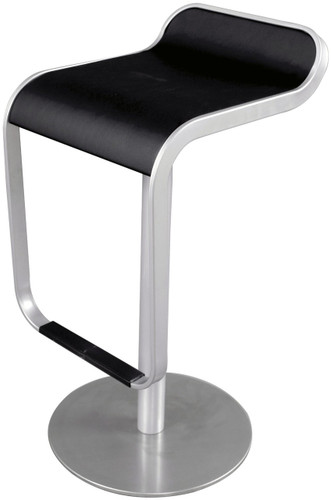 Lem Bar Stool With Brushed Frame