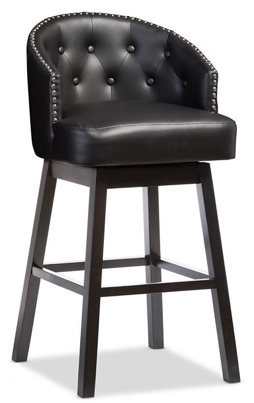 new concept 9c752 e66bb Isaac Tufted Swivel Barstool With Nail Heads Trim (Set of 2)