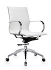 Glider Low Back Office Chair White By Zuo Modern