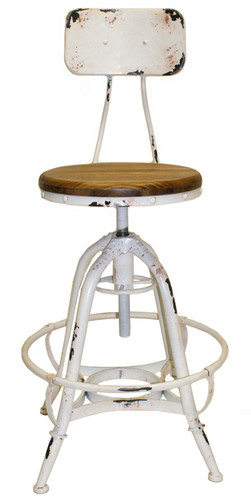 Henry Industrial Design Adjustable Height Counter Stool