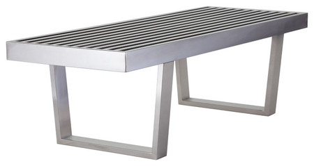 Zoey Bench Stainless Steel 4ft