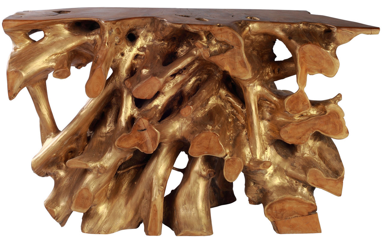 Dino Console Table By Zuo Modern Teak Wood Console