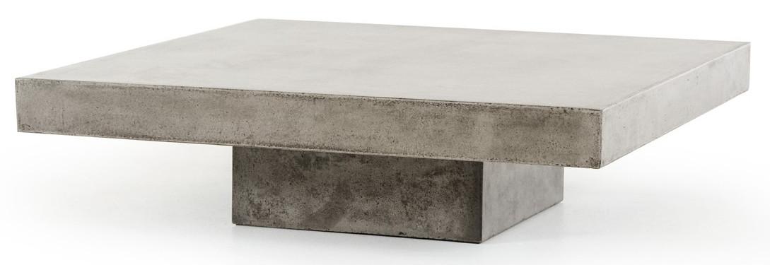 Benciveni Concrete Top Coffee Table Concrete Square Coffee Table