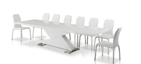modern extendable dining table