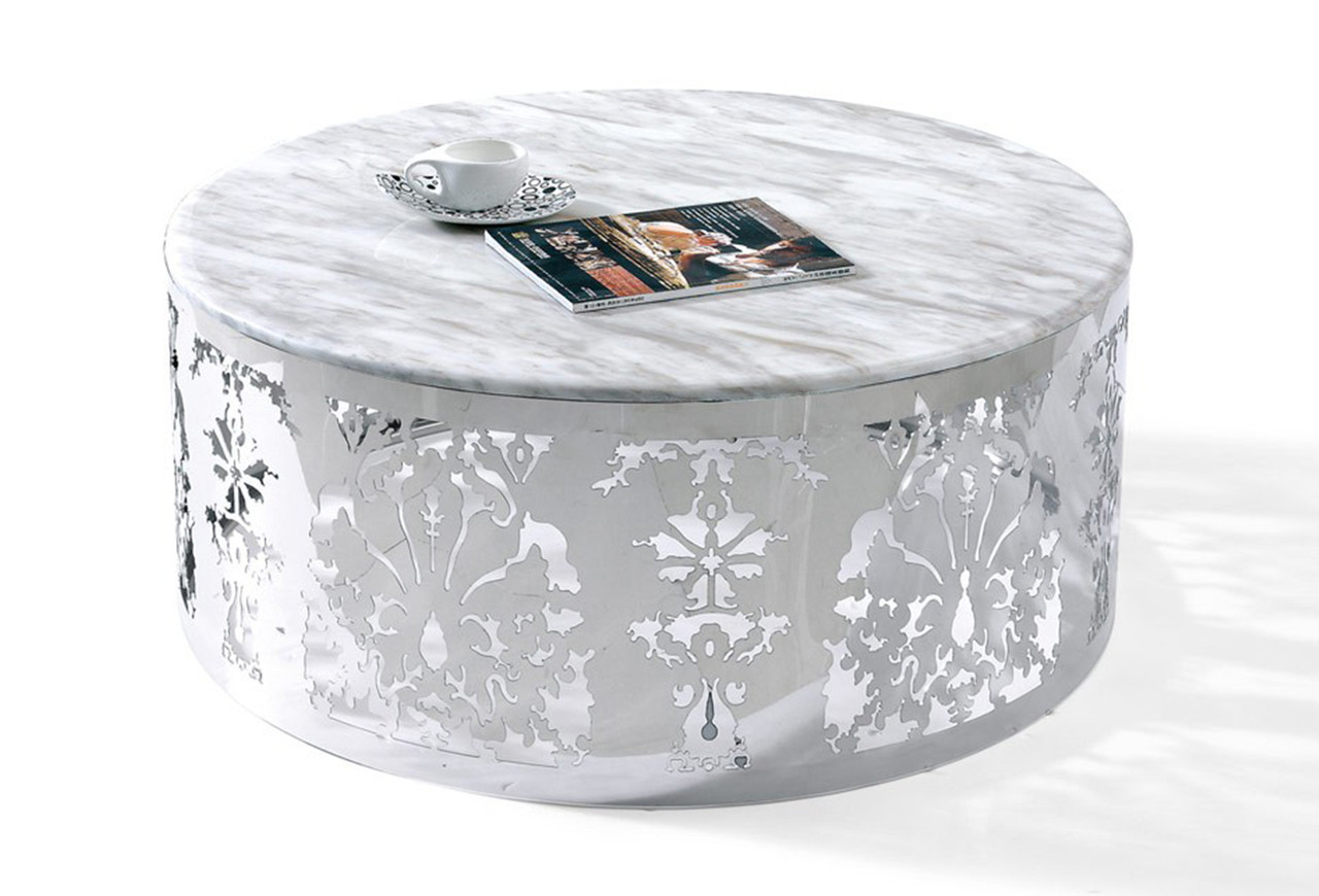 Eliza White Marble Top Coffee Table Coffee Table Marble Top