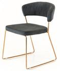 modern grey dining chair