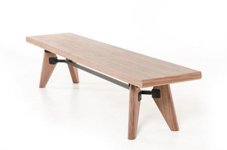 mid century dining bench
