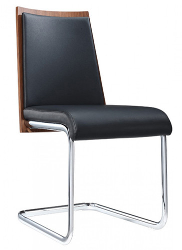black modern dining chair