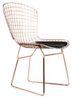 Bertoia Side Chair In Rose Gold Finish