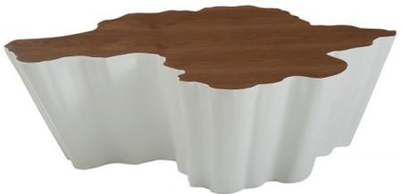 Walnut & White Coffee Table