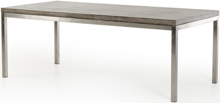 dining table with concrete top