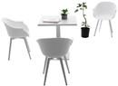 white patio dining set