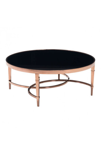 Elite Coffee Table Rose Gold & Black
