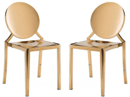 Eclispe Dining Chair Gold